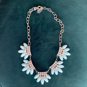 J. Crew Light Blue Flower Statement Necklace
